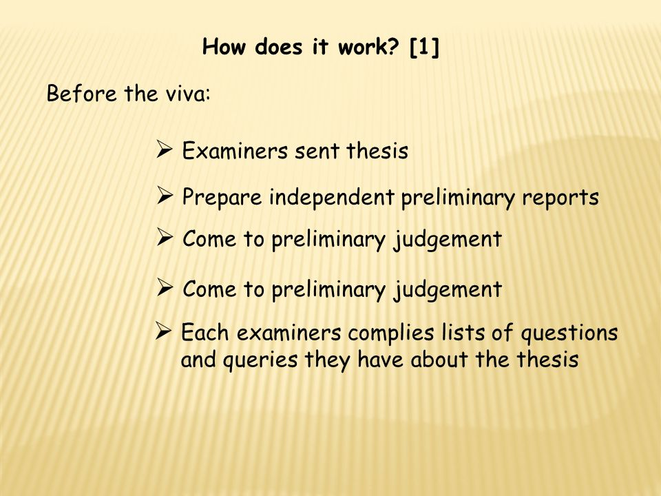 dissertation viva questions I've been answering difficult questions about my phd thesis all day to prepare for my viva on monday i thought i'd post a few of them up here because they offer a handy faq and, i think.
